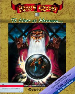 Box artwork for King's Quest III: To Heir is Human.