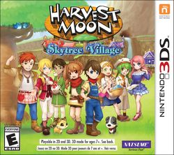 Box artwork for Harvest Moon: Skytree Village.
