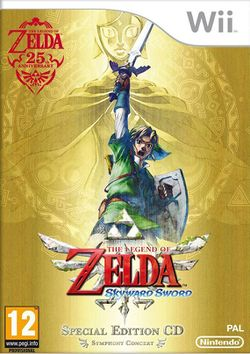 Box artwork for The Legend of Zelda: Skyward Sword.