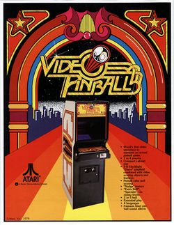 Box artwork for Video Pinball.