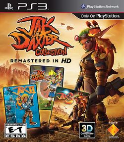Box artwork for Jak and Daxter Collection.