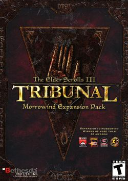 Box artwork for The Elder Scrolls III: Tribunal.