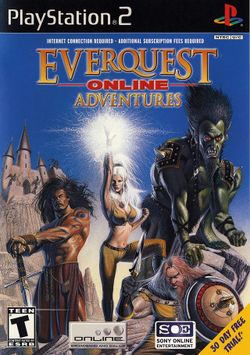Box artwork for EverQuest Online Adventures.