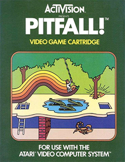 Box artwork for Pitfall!.