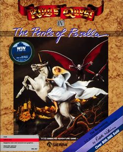 Box artwork for King's Quest IV: The Perils of Rosella.
