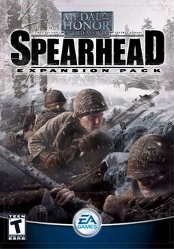 Box artwork for Medal of Honor: Allied Assault - Spearhead.