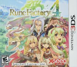 Box artwork for Rune Factory 4.