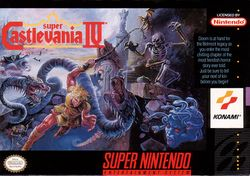 Box artwork for Super Castlevania IV.