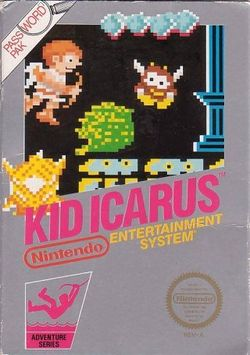 Box artwork for Kid Icarus.