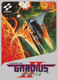 Box artwork for Gradius II.