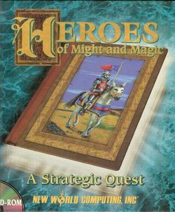 Box artwork for Heroes of Might and Magic.