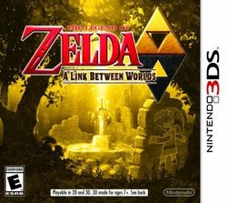 Box artwork for The Legend of Zelda: A Link Between Worlds.