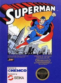 Box artwork for Superman.