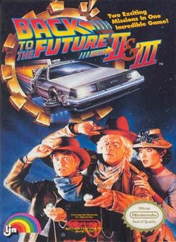 Box artwork for Back to the Future Part II & III.