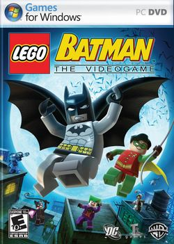 Box artwork for LEGO Batman: The Videogame.