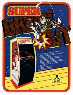 Box artwork for Super Breakout.