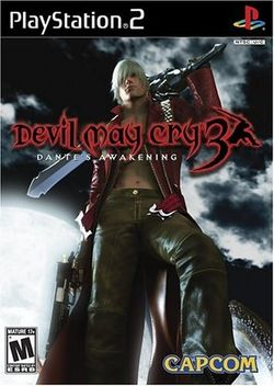 Box artwork for Devil May Cry 3: Dante's Awakening.