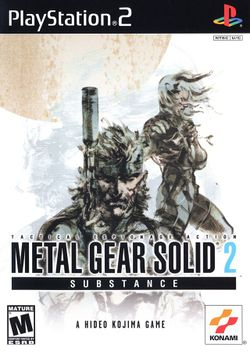 Box artwork for Metal Gear Solid 2: Substance.
