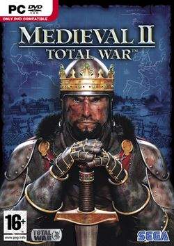 Box artwork for Medieval II: Total War.