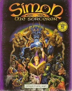 Box artwork for Simon the Sorcerer.