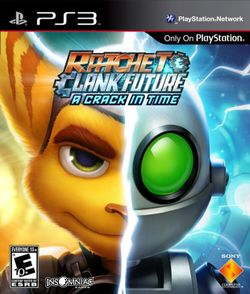 Box artwork for Ratchet & Clank Future: A Crack in Time.