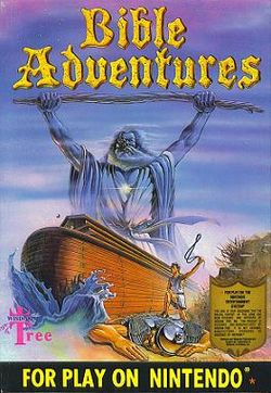 Box artwork for Bible Adventures.