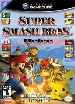 Box artwork for Super Smash Bros. Melee.