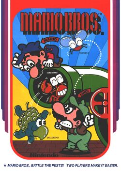 Box artwork for Mario Bros..