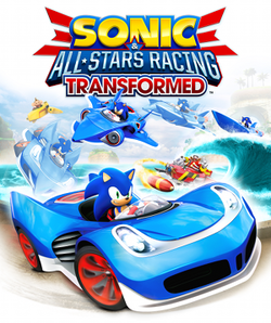 Box artwork for Sonic & All-Stars Racing Transformed.