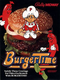Box artwork for BurgerTime.
