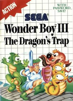 Box artwork for Wonder Boy III: The Dragon's Trap.