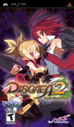 Box artwork for Disgaea 2: Dark Hero Days.