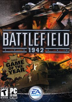 Box artwork for Battlefield 1942.