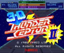 Box artwork for 3-D Thunder Ceptor II.