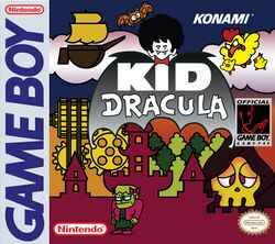 Box artwork for Kid Dracula.
