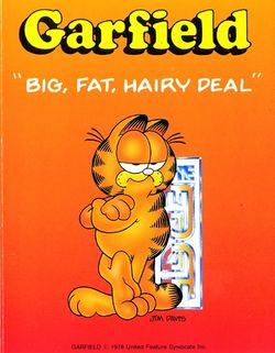 Box artwork for Garfield: Big, Fat, Hairy Deal.