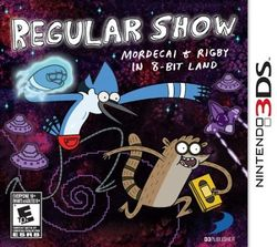 Box artwork for Regular Show: Mordecai and Rigby in 8-Bit Land.
