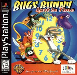 Box artwork for Bugs Bunny: Lost in Time.