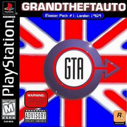 Box artwork for Grand Theft Auto: Mission Pack #1: London, 1969.