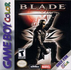 Box artwork for Blade (Game Boy Color).