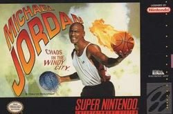 Box artwork for Michael Jordan: Chaos in the Windy City.