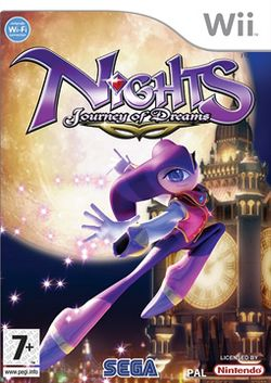 Box artwork for NiGHTS: Journey of Dreams.