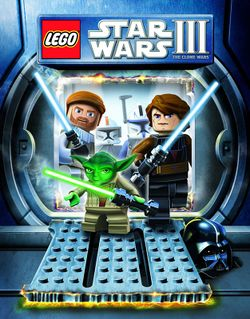 Box artwork for LEGO Star Wars III: The Clone Wars.