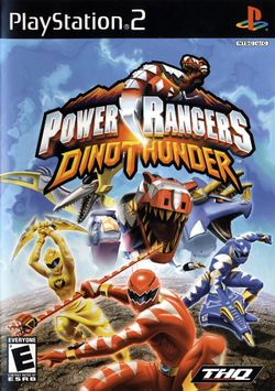 Box artwork for Power Rangers Dino Thunder.