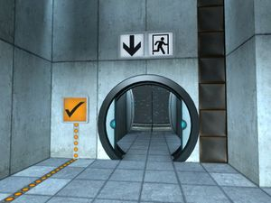 An open door. & Portal/Getting Started \u2014 StrategyWiki the video game walkthrough ...