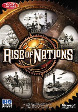 Box artwork for Rise of Nations.