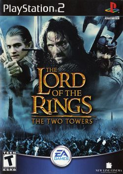 Box artwork for The Lord of the Rings: The Two Towers.