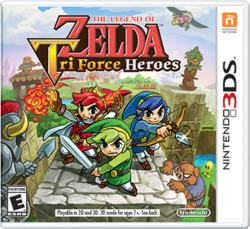 Box artwork for The Legend of Zelda: Tri Force Heroes.