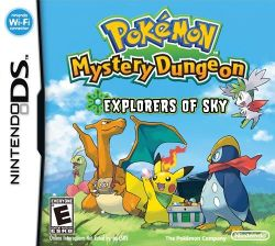 Box artwork for Pokémon Mystery Dungeon: Explorers of Sky.