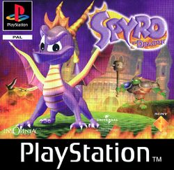Box artwork for Spyro the Dragon.